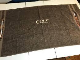 chocolate brown terry towel golf cart