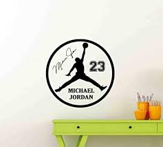 Amazon Com Michael Jordan Wall Decal 23 Sign Air Jordan Poster Signature Jumpman Wall Decor Basketball Wall Art Gym Vinyl Sticker Children Gift Fitness Print 72me Arts Crafts Sewing