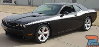 Dodge Challenger Stripes Matte Black Classic Track 2008 2018 2019