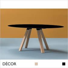 arki wood square table black solid