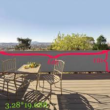 3 28ft Privacy Screen Fence Mesh Windscreen For Backyard Deck Patio Balcony Pool Porch Railing Black Lazada Ph