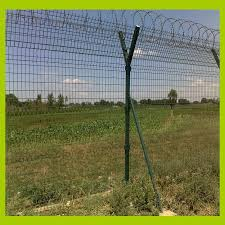 Y Shape Bracing Rail 3 Curved Wire Mesh Fence Panel Razor Barbed Wire On The Top For Farm Crops Panel Hinge Panel Graphicwire Pendant Aliexpress