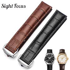 20mm 21mm leather strap for omega watch