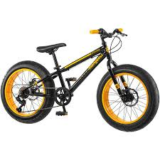 20 Mongoose Massif Boys Fat Tire Mountain Bike Black Yellow Walmart Com Walmart Com