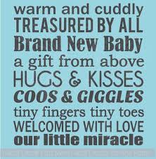 Our Little Miracle Brand New Baby Subway Art Wall Decals Nursery Wall Words