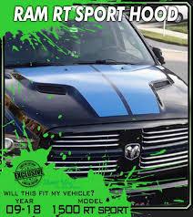 Big Sport 2009 2018 Dodge Ram 1500 Truck Decals Hood Stripe 1500 R T Graphics Premium 3m Vinyl Decal Kit Truck Decals Custom Graphics For Muscle Cars Elite Limit