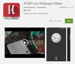 8 apps like klwp live wallpaper maker