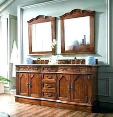 distressed wood bathroom cabinet