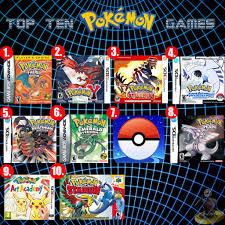list of video games of pokemon