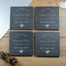personalised slate coasters new home