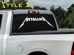 Product Metallica Rock Band Thrash Metal Hardwired To Self Destruct Window Decal Sticker Suv Truck Hardwired To Self Destruct Suv Trucks Thrash Metal