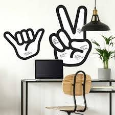 Peace Hand Dry Erase Peel And Stick Giant Wall Decal Roommates Target