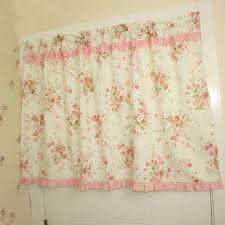 Panda Superstore Pink Patchwork Floral Window Valance For Kids Bedroom 23 5 By 55 Inches