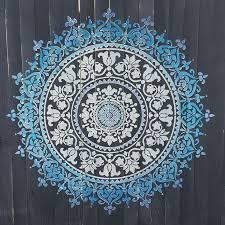 Prosperity Mandala Stencil Stencil Wall Art Mandala Wall Art Mandala Wall Stencil