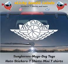 Air Jordan 1 Wings 12 Inch Wide Window Vinyl Decal Sticker Ebay