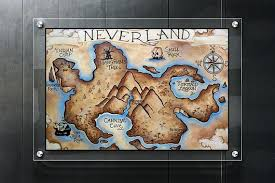 Neverland Map Poster Map Print Neverland Map Poster Neverland Etsy