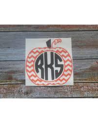 Find The Best Deals On Pumpkin Monogram Decor Monogram Decal Car Yeti Decal For Women Halloween Decals Vinyl Decals