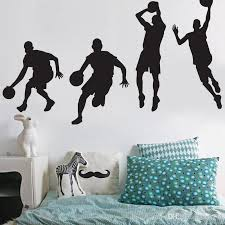 High Quality Basketball Players Wall Stickers For Boys Basketball Decals Sports Wallpaper Murals Kids Room Home Decor Bathroom Wall Decals Bathroom Wall Stickers From Jy9146 4 76 Dhgate Com