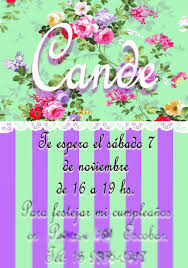 Invitaciones De Cumpleanos Para Nina 12 Anos Romantica