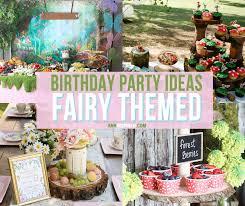 fairy garden themed birthday party