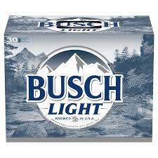busch light beer 12 oz 30 pk alcohol
