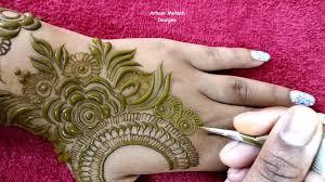 mehndi design back pic