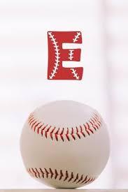 baseball notebook monogram e initial