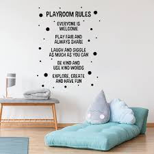 Playroom Rules Wall Stickers Nursery Kids Room Home Decor Vinyl Wall Decals Boys Gaming Room Dormitory House Decoration Wall Stickers Aliexpress