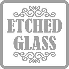 custom etched glass decals design
