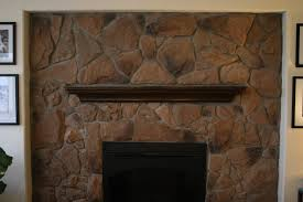 whitewash stone diy fireplace makeover