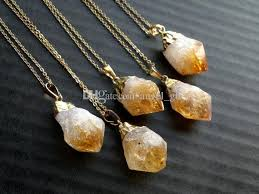 raw citrine point pendant necklace