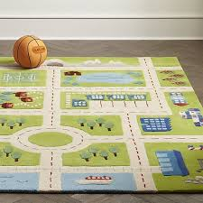 Tiny Town Road Play Rug Crate And Barrel Playroom Rug Play Rug Kids Rugs