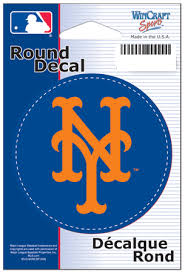 New York Mets Decal Round 3 Inch Diameter