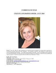 Celeste Smith - CV - JULY 2016