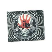 Shop Five Finger Death Punch Bi Fold Wallet One Size Fits Most Overstock 15414267