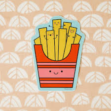 French Fries Vinyl Decal Sticker Free Period Press
