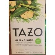 tazo green tea green ginger calories