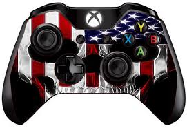 Amazon Com Skin Vinyl Decal For Xbox One One S Controller With Grip Guard Technology Stickers Skins Cover American Skull Flag In Skull