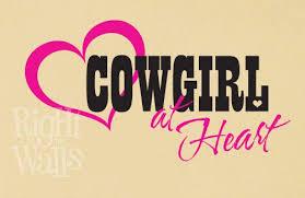 Cowgirl Western Wall Decals Vinyl Art Stickers