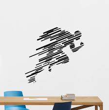 Amazon Com Runner Wall Decal Sticker Running Sign Run Print Gym Fitness Wall Decor Workout Sport Poster Vinyl Sticker Kids Teen Boy Room Nursery Bedroom Wall Art Decor Mural 97nnn Home Improvement