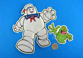 Stay Puft Slimer Vinyl Sticker Set Skateboard Decal Real Ghostbusters Cartoon Ebay