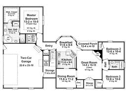 traditional style house plan 59158 with