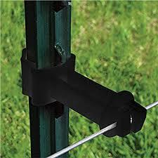 Amazon Com Patriot 2 Wraparound T Post Extender Insulators Black Pack Of 25 Garden Outdoor