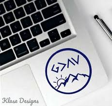 God Is Greater Than Highs And Lows Mountain Laptop Stickers Vinyl Decal Decals Car Decal Decal Macbook Decal Laptop Design Laptop Decal