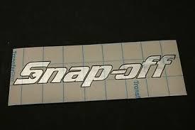 Chrome Snap Off Tool Box Name Plate Vinyl Decal Snap On Spoof Sticker Emblem Ebay