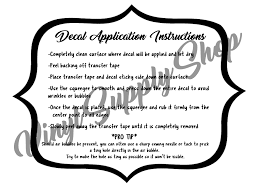 Free Printable Decal Application Instructions Instruction Free Vinyl Decals Printable Vinyl