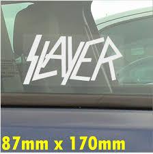 1 X Slayer Self Adhesive Car Window Vinyl Sticker Heavy Metal Graphic Decal Sign