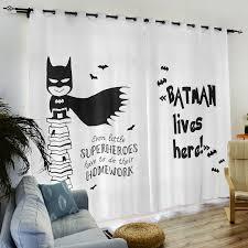 Customized Window Curtain Tulle Door Window Curtain Batman Alphabet Simple Theme Curtains Valances Window Voile Curtains Curtains Aliexpress