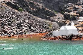 santorini hot springs greeka