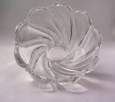 vintage mikasa lead crystal glass bowl